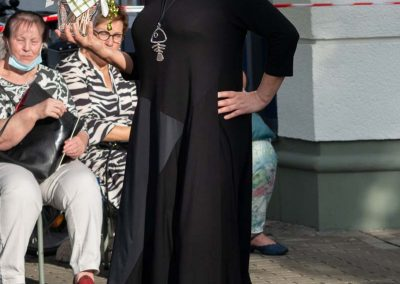 Schickes Jerseykleid mit Polyestereinsätzen, interessante Optik